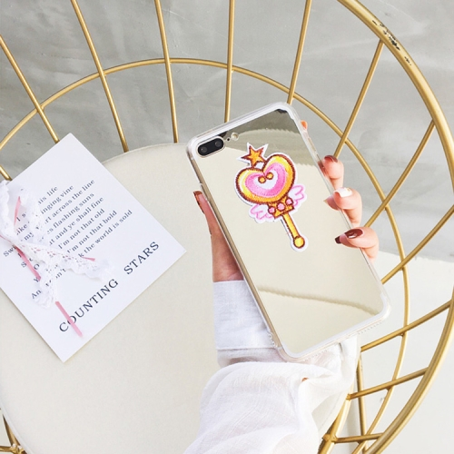 Buy For iPhone 8 Plus & 7 Plus Electroplating Mirror Embroidery Magic Wand Pattern Full Coverage Shockproof Protective Back Cover Case for $2.29 in SUNSKY store