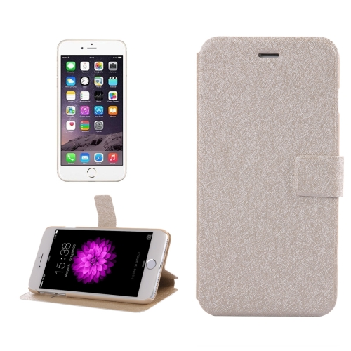 Buy For iPhone 8 Plus & 7 Plus Silk Texture Horizontal Flip Leather Case with Magnetic Buckle & Holder & Card Slots, Gold for $2.00 in SUNSKY store