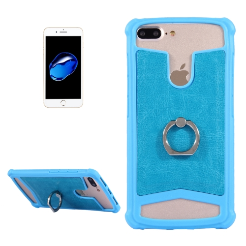 Buy 5.2-5.5 inch Universal Crazy Horse Texture PU Leather + Silicone Protective Case with Holder for Sony, Huawei, Meizu, Lenovo, ASUS, Cubot, Oneplus, Dreami, Oukitel, Xiaomi, Ulefone, Letv, DOOGEE, Umi, ZTE, Vernee, Elephone, Vkworld, THL and other Smartphones, Size: 15.6x8.2x1cm, Blue for $1.00 in SUNSKY store