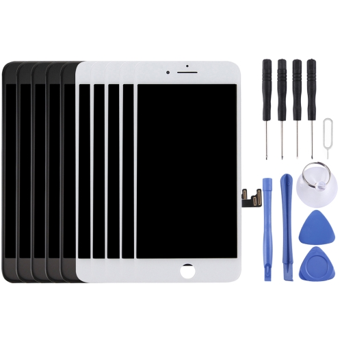 5 PCS Black + 5 PCS White AUO LCD Screen and Digitizer Full Assembly for iPhone 7 Plus(5 Black + 5 White)