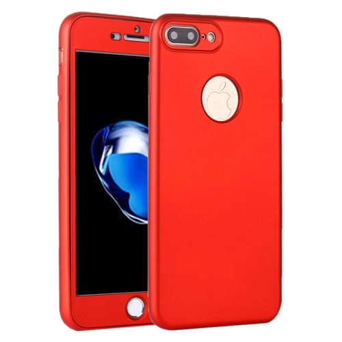 Buy For iPhone 8 Plus & 7 Plus 360 Degree Shockproof Oil Spout Silicone Back Case + PC Cover Combination Protective Case, Red for $2.05 in SUNSKY store