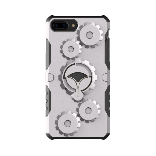 Buy For iPhone 8 Plus & 7 Plus Gearwheel Style TPU + PC Multi-function Outdoor Sports Protective Back Cover Case With 360 Degree Rotatable Holder & Armband, Grey for $3.94 in SUNSKY store