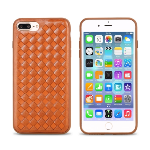 Buy REMAX for iPhone 8 Plus & 7 Plus Knitting Leather Surface Protective Back Cover Case, Brown for $5.92 in SUNSKY store