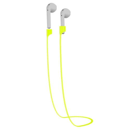 Buy TOTUDESIGN Popular Series Wireless Headphones Silicone Magnetic Absorption Anti-lost Sport Strap for Apple AirPods, Cable Length: 65cm, Green for $2.94 in SUNSKY store