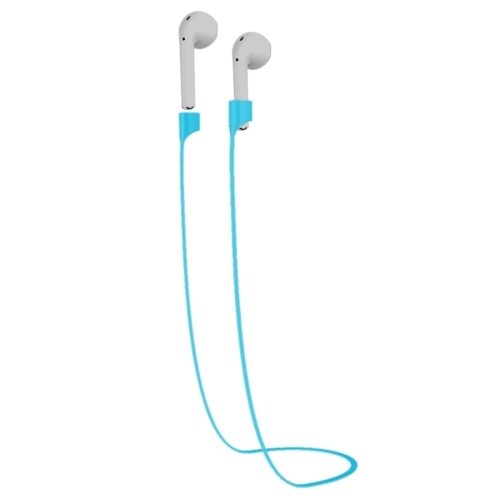 Buy TOTUDESIGN Popular Series Wireless Headphones Silicone Magnetic Absorption Anti-lost Sport Strap for Apple AirPods, Cable Length: 65cm, Blue for $2.94 in SUNSKY store