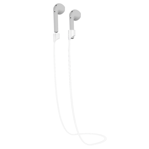 Buy TOTUDESIGN Popular Series Wireless Headphones Silicone Magnetic Absorption Anti-lost Sport Strap for Apple AirPods, Cable Length: 65cm, White for $2.94 in SUNSKY store