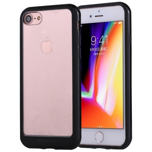 GOOSPERY New Bumper X for iPhone 8 & 7 PC + TPU Shockproof Hard Protective Back Case(Black) baseus little devil case for iphone 7 black