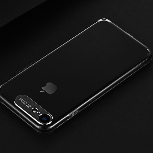 TOTUDESIGN Clear Crystal Series TPU Transparent Soft Case for iPhone 8 & 7(Black) baseus little devil case for iphone 7 black