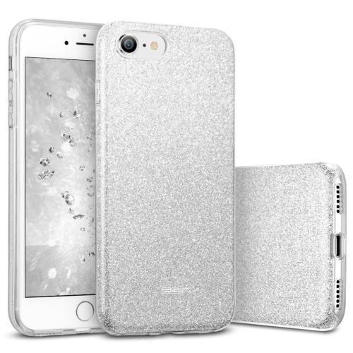 ESR Makeup Series TPU + PC Glitter Case for iPhone 8 / 7(Silver)
