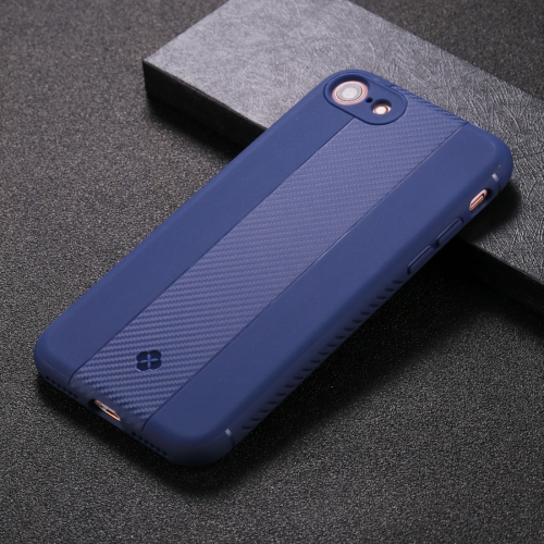 Buy TOTUDESIGN For iPhone 8 & 7 Carbon Fiber Texture TPU Anti-slip Soft Protective Back Cover Case, Blue for $2.65 in SUNSKY store