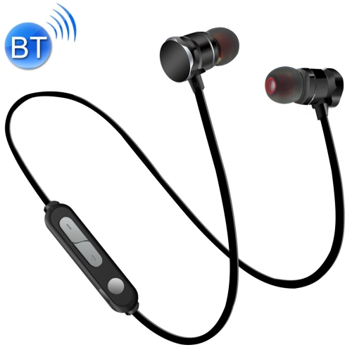 X3 Magnetic Absorption Sweatproof Sports Bluetooth In-Ear Headset with HD Mic, Support Hands-free Calls, Distance: 10m, For iPad, Laptop, iPhone, Samsung, HTC, Huawei, Xiaomi, and Other Smart Phones(Black) letike bluetooth headphones wireless sports earphones sweatproof headset magnetic aptx hifi 3d stereo with mic for iphone xiaomi