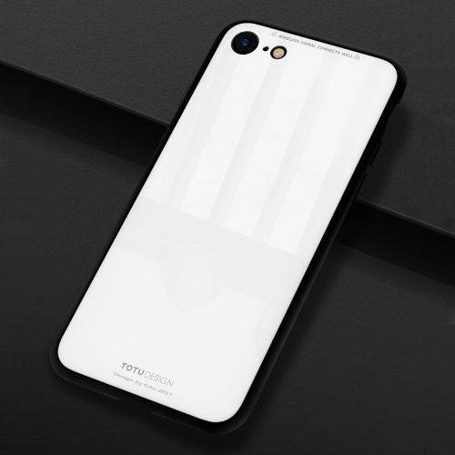 Buy TOTUDESIGN for iPhone 8 & 7 TPU + PC + Glass Dropproof Protective Back Cover Case, White for $4.46 in SUNSKY store