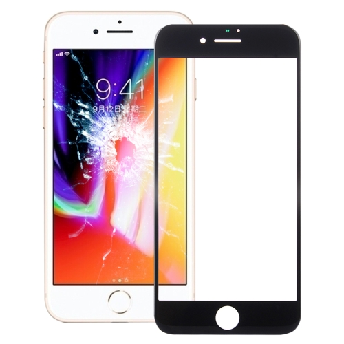 Front Screen Outer Glass Lens for iPhone 8(Black)