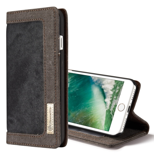 Buy CaseMe for iPhone 8 & 7 Denim + Canvas + PC Material Horizontal Flip Leather Case with Card Slot & Holder & Wallet & Photo Frame, Black for $4.72 in SUNSKY store