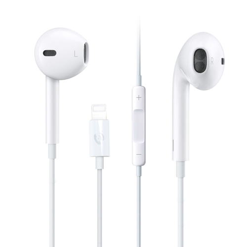 ML715 1.2m 8 Pin Port Wire Control Bluetooth Earphone, Support Music, Calls, Volume Control, For iPhone X & iPhone 8 & 7, iPhone 8 Plus & 7 Plus