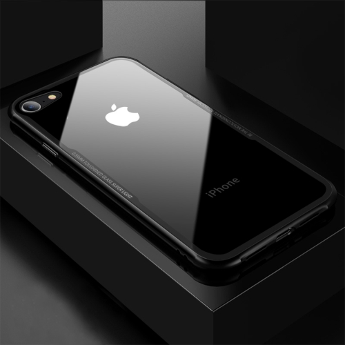 CAFELE for iPhone 8 & 7 TPU + Tempered Glass Shockproof Protective Back Cover Case (Black) baseus little devil case for iphone 7 black
