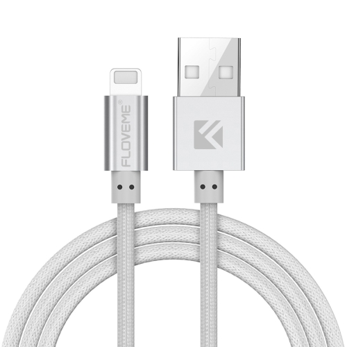 Buy FLOVEME 1m 2.1A Aluminum Alloy Head USB to 8 Pin PE Data Sync Charging Cable for $2.41 in SUNSKY store