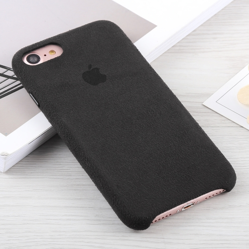 Alcantara + PC Suede Protective Back Cover Case for iPhone 8 & 7 (Black) baseus little devil case for iphone 7 black