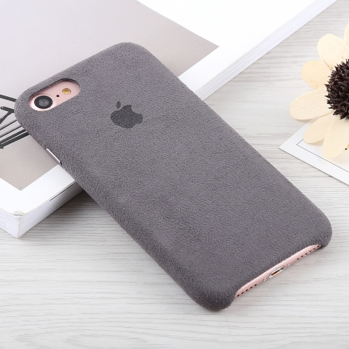 Suede PC Protective Back Cover Case for iPhone 8 & 7(Grey)