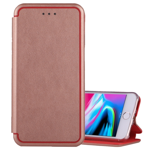 Buy For iPhone 6 & 6s & 7 & 8 Ultra-thin Magnetic Horizontal Flip Shockproof Protective Leather Case with Holder & Card Slot (Rose Gold) for $3.95 in SUNSKY store