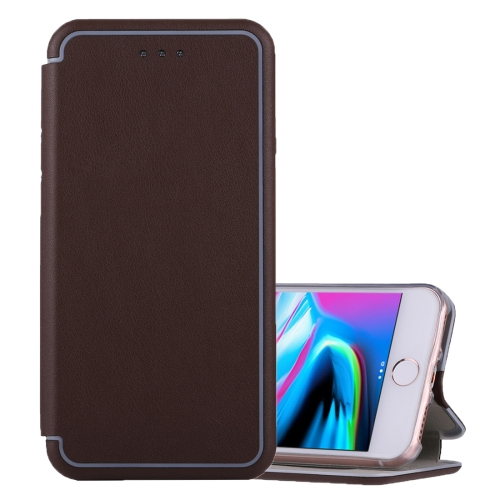 Buy For iPhone 6 & 6s & 7 & 8 Ultra-thin Magnetic Horizontal Flip Shockproof Protective Leather Case with Holder & Card Slot, Brown for $3.74 in SUNSKY store