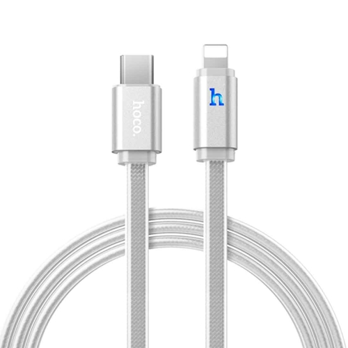 Buy hoco 1.2m PVC + Aluminum Alloy Head 8 Pin to USB Data Sync Charging Cable with Indicator Light for $3.86 in SUNSKY store