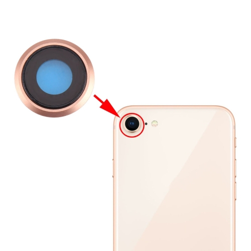 Rear Camera Lens Ring for iPhone 8 (Gold)