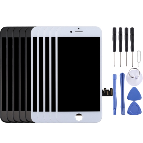 5PCS Black + 5 PCS White LCD Screen and Digitizer Full Assembly for iPhone 8