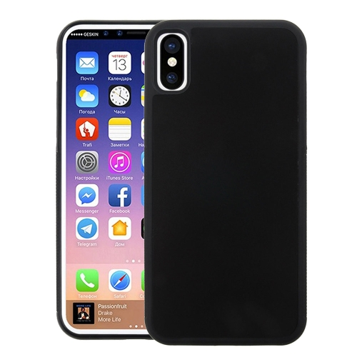Buy For iPhone X TPU + PC Anti-Gravity Dropproof Protective Back Cover Case, Black for $2.28 in SUNSKY store
