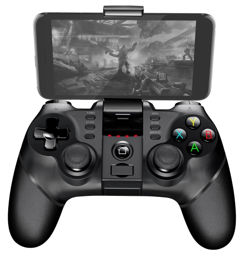 ipega PG-9077 Bluetooth Game Controller Gamepad, For Galaxy, HTC, MOTO, Android TV Box, Android TV, PC(Black)