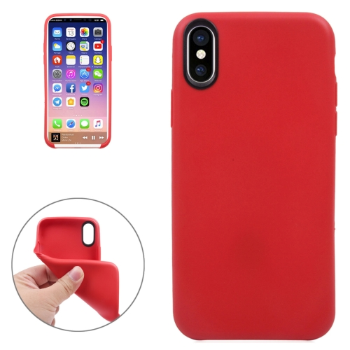 Buy For iPhone X Classic Smooth Surface Soft TPU Protective Case, Red for $1.06 in SUNSKY store