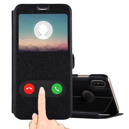 Sunsky For Iphone X Xs Silk Texture Horizontal Flip