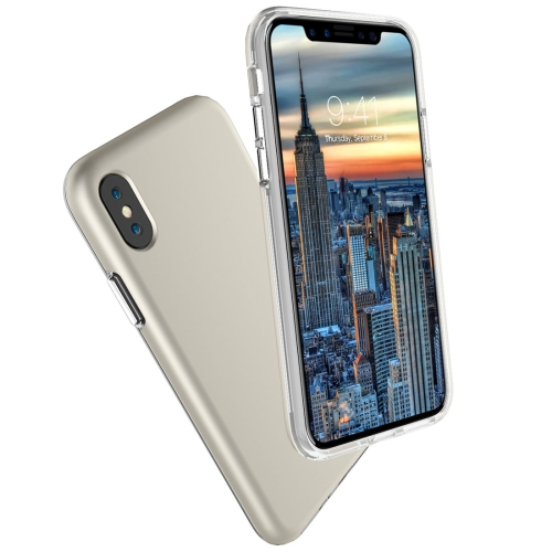 Buy For iPhone X PC + TPU Chrome Plated Press Button Protective Back Cover Case, Gold for $2.66 in SUNSKY store