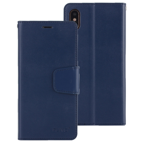 Buy ALIVO for iPhone X Lambskin Texture Horizontal Flip Leather Case with Holder & Card Slots & Wallet (Dark Blue) for $2.51 in SUNSKY store