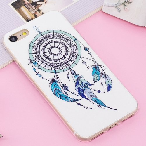 Buy For iPhone 8 & 7 Noctilucent IMD Feather Dream Catcher Pattern Soft TPU Back Case Protector Cover for $1.41 in SUNSKY store