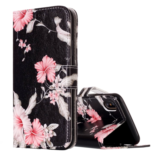 For iPhone X / XS Azalea Pattern Horizontal Flip Leather Case with Holder & Card Slots & Wallet
