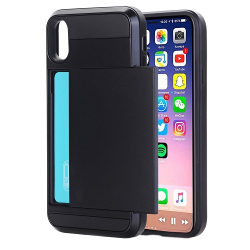 Buy For iPhone X Detachable TPU + PC Protective Back Cover Case with Card Slot, Small Quantity Recommended Before iPhone X Launching, Black for $2.28 in SUNSKY store