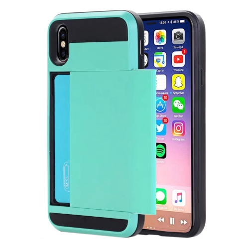 Buy For iPhone X Detachable TPU + PC Protective Back Cover Case with Card Slot, Small Quantity Recommended Before iPhone X Launching (Mint Green) for $2.28 in SUNSKY store