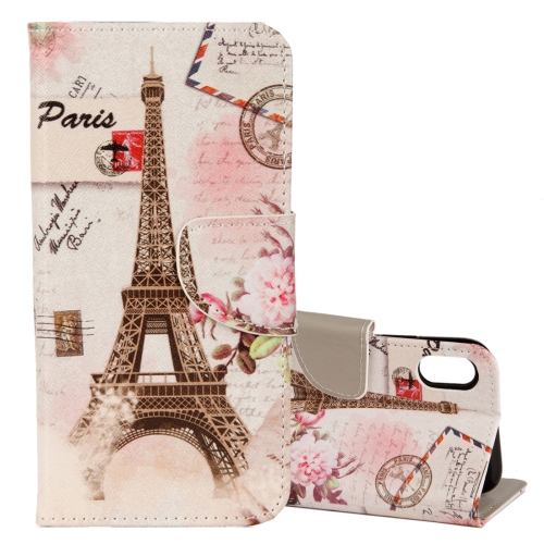 Buy For iPhone X Eiffel Tower Pattern Horizontal Flip Leather Case with Holder & Card Slots & Wallet for $2.29 in SUNSKY store