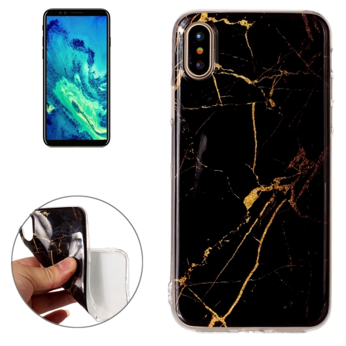 Buy For iPhone X Black Marble Pattern TPU Shockproof Protective Back Cover Case for $1.27 in SUNSKY store