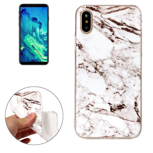 Buy For iPhone X White Marble Pattern TPU Shockproof Protective Back Cover Case for $1.20 in SUNSKY store