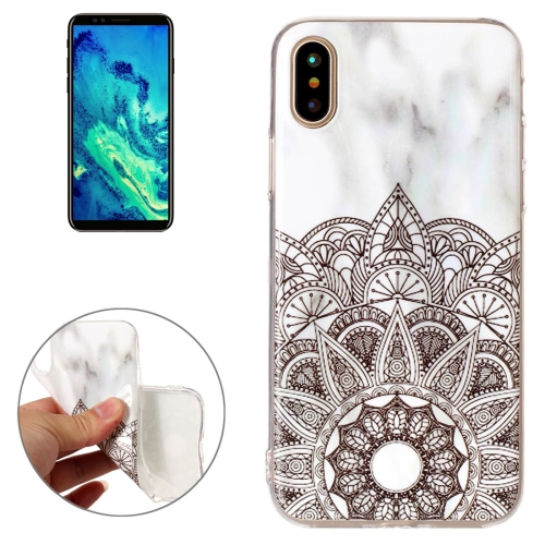Buy For iPhone X Half Flower White Marble Pattern TPU Shockproof Protective Back Cover Case for $1.20 in SUNSKY store
