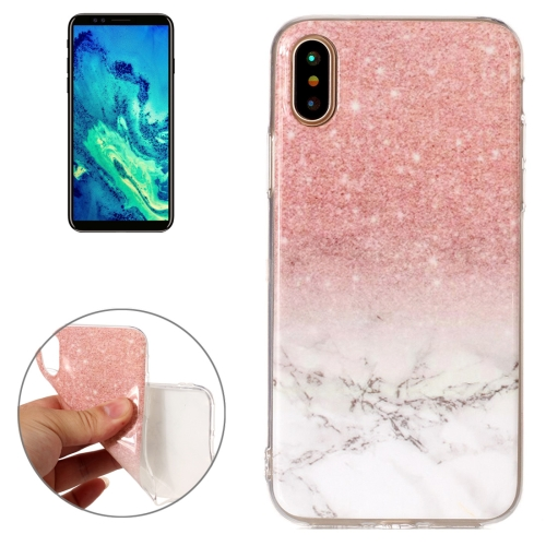 Buy For iPhone X Marble Pattern TPU Shockproof Protective Back Cover Case for $1.20 in SUNSKY store