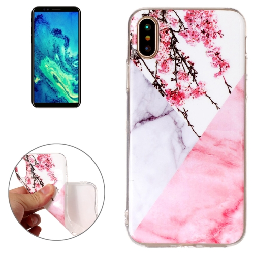 Buy For iPhone X Cherry Pink White Marble Pattern TPU Shockproof Protective Back Cover Case for $1.20 in SUNSKY store