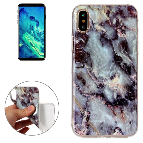 Buy For iPhone X Brown Marble Pattern TPU Shockproof Protective Back Cover Case for $1.27 in SUNSKY store
