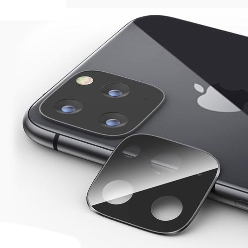 Titanium Alloy Camera Lens Protector Tempered Glass Film for iPhone 11 Pro / 11 Pro Max (Black)