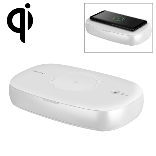Momax 10W Qi Standard Fast Charging Wireless Charger Mobile Phone Jewelry UV Disinfection Cleaning Box