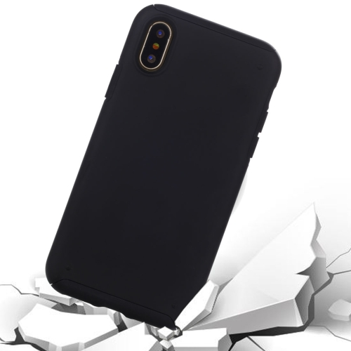 Buy For iPhone X TPU + PC Combination Protective Back Cover Case, Black for $4.90 in SUNSKY store