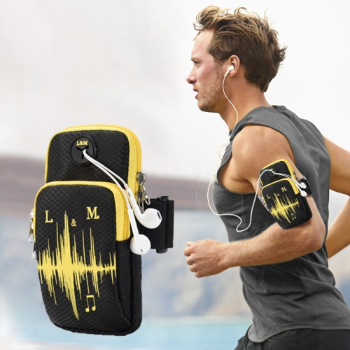 Universal 6.2 inch or Under Phone Zipper Double Bag Multi-functional Sport Arm Case with Earphone Hole, For iPhone, Samsung, Sony, Oneplus, Xiaomi, Huawei, Meizu, Lenovo, ASUS, Cubot, Ulefone, Letv, DOOGEE, Vkworld, and other Smartphones(Black) фото