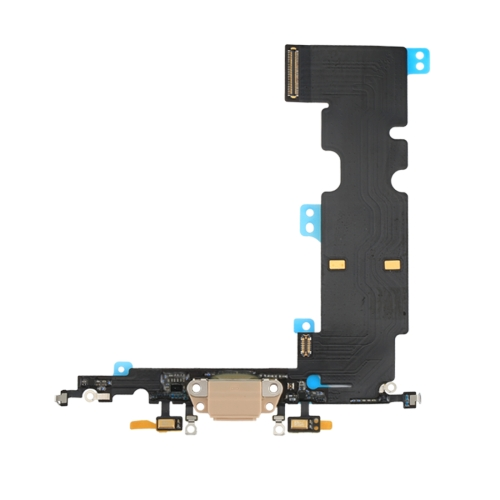 Charging Port Flex Cable for iPhone 8 Plus (Gold)